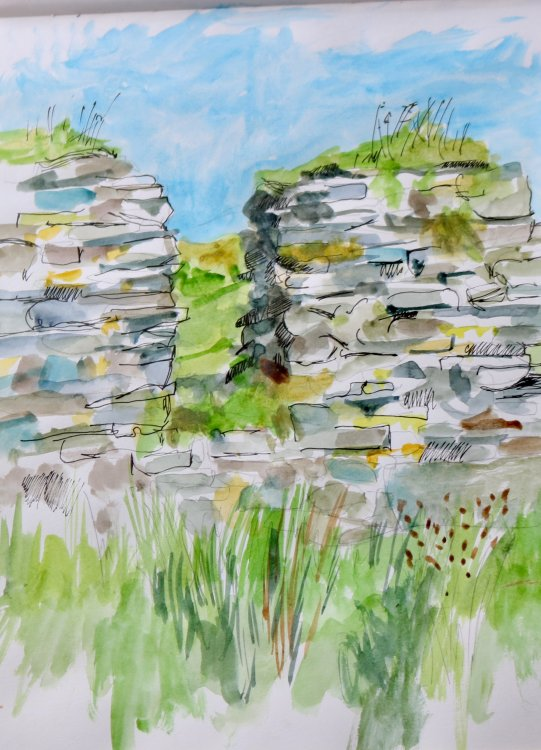 South wall of church, Cooley Cross, Inishowen