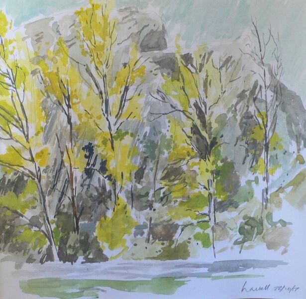 Trees near the river, Aleje, Spain