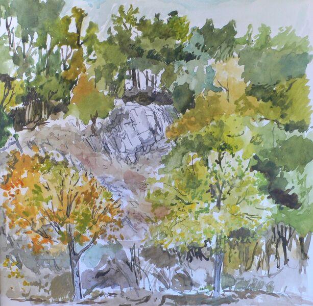 Rocks and trees, Aleje, Spain