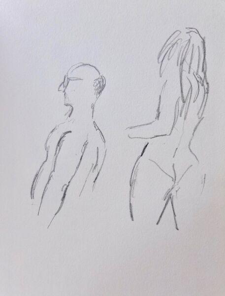 Figures on the beach