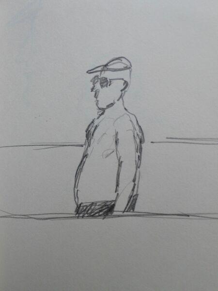 Man on the beach 3