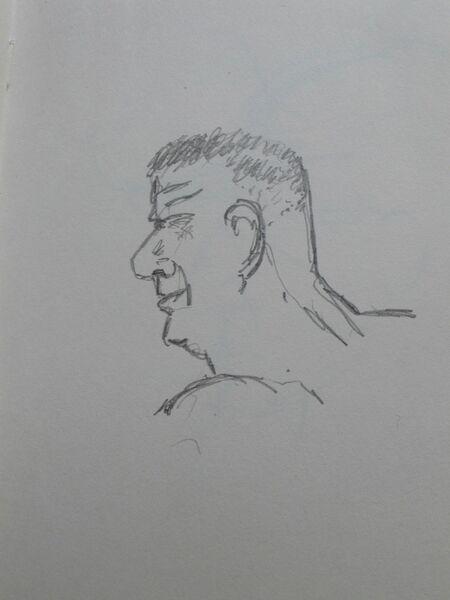 Man on the beach 4