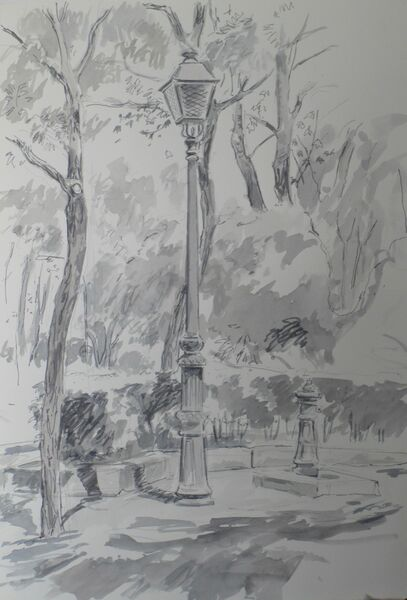 Lamp post, Madrid