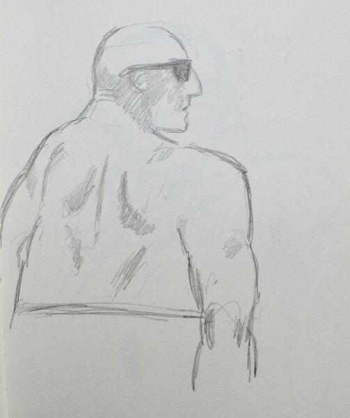 Man on the beach 2