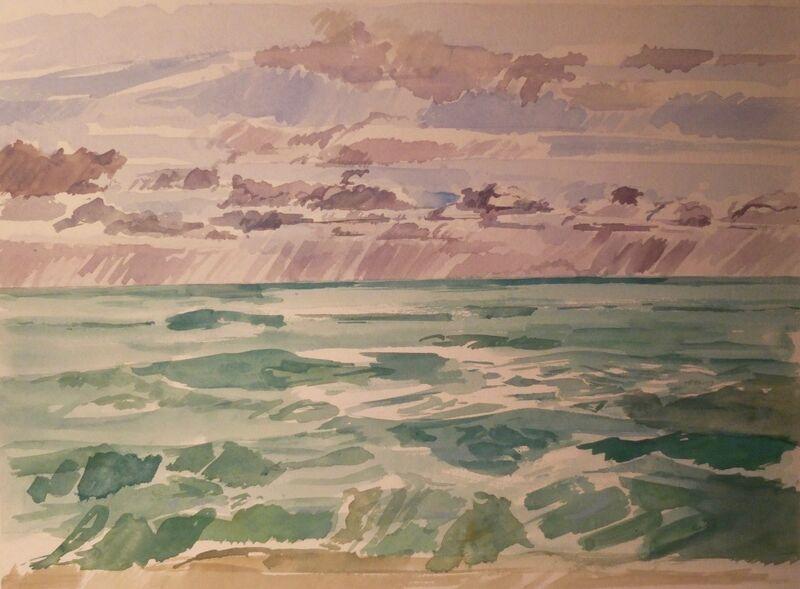 Stormy seascape 1