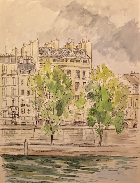 View over the Seine 1
