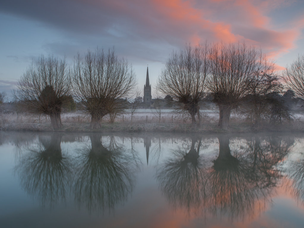 Across the Thames to Lechlade Church