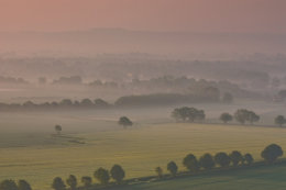 Misty Morning in the Vale of Pewsey