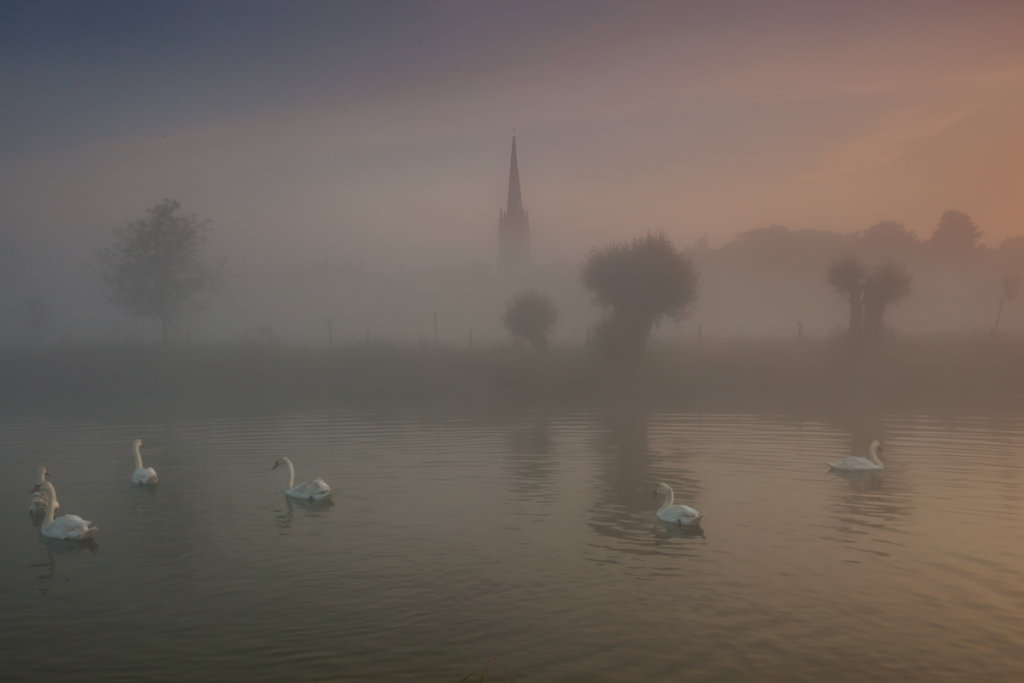 Looking across the Thames to lechlade Church