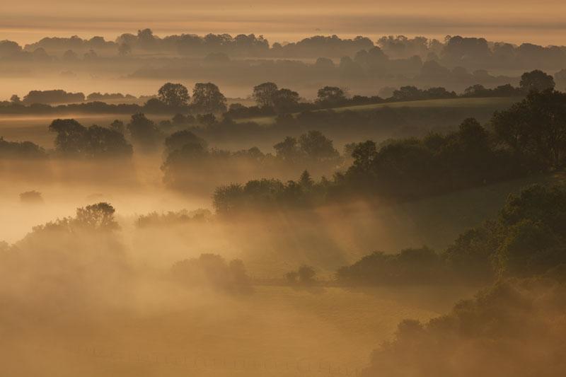Sunrise over Oxfordshire Countryside