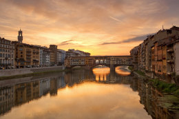 Ponte Vecchio, Florence, at Dawn