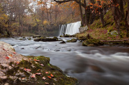 Welsh Waterfall in the Autumn