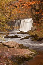 Sgwd Ddwli Waterfall in Brecon Beacons