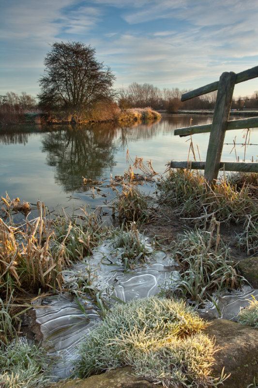 A Frosty Thames near Lechlade