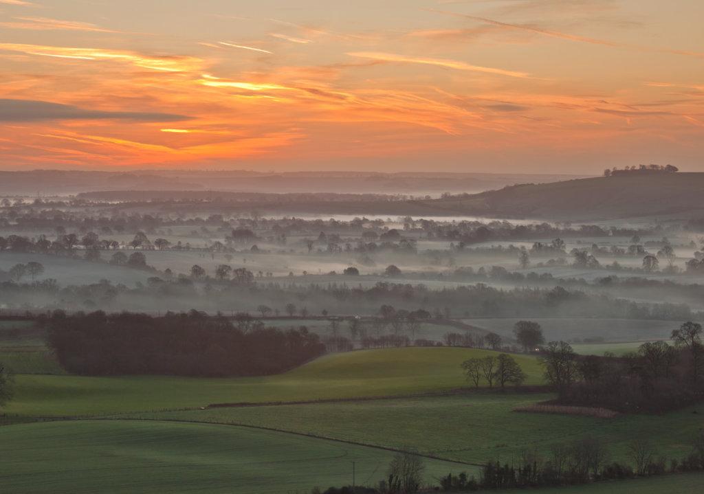 Pewsey Vale at Sunrise