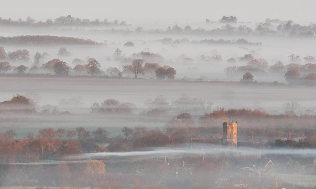 Uffington Church in Mist
