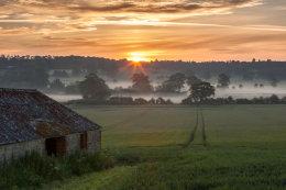 Sunrise over Coleshill Oxfordshire