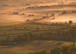 An Oxfordshire Misty Sunrise