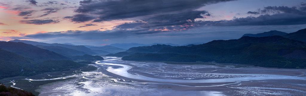 Mawddach Estuary, North Wales. Panorama