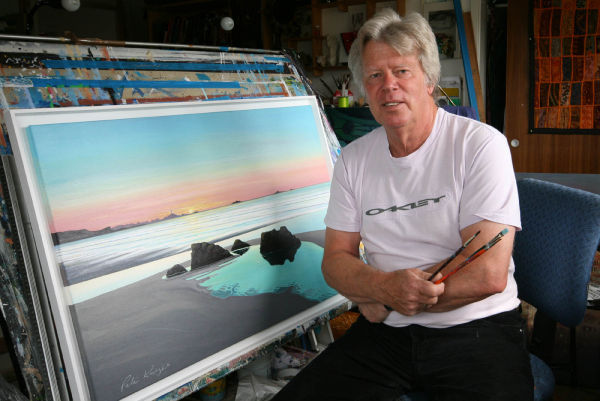 Peter Knight in his art studio