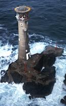 Longships Lighthouse. Before fitting of solar panels