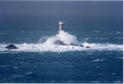 Rough Seas Longships Lighthouse