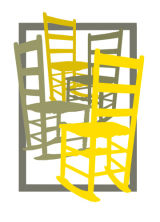 Four Chairs Yellow and Gray