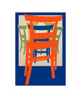 Six Painted Chairs