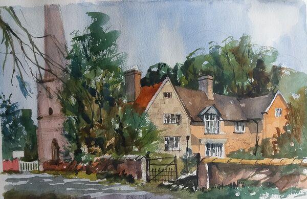 Church Farm and St Cuthbert's Shustoke