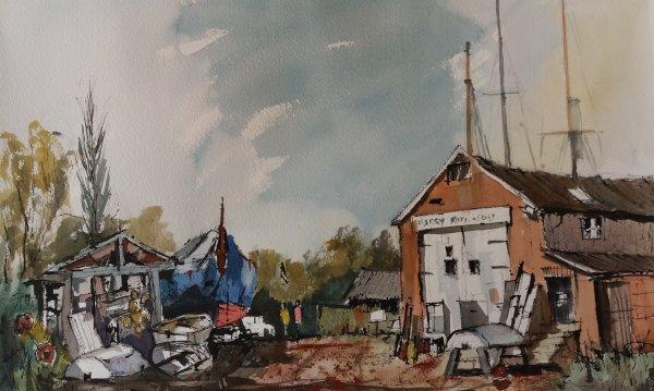 Harry King's Boatyard at Pin Mill