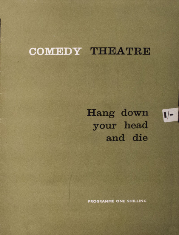 Comedy Theatre London - programme
