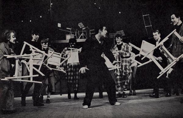 Ensemble with Terry Jones, centre