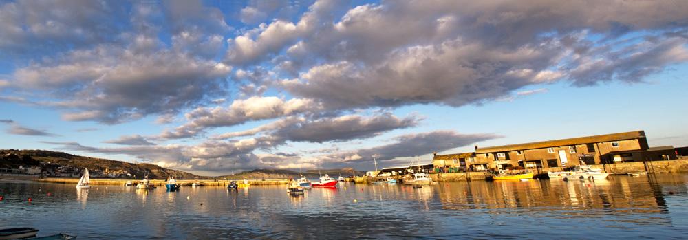 Harbour sunset panorama-Edit
