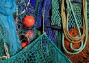 Fishing nets and floats, Lyme Regis harbour