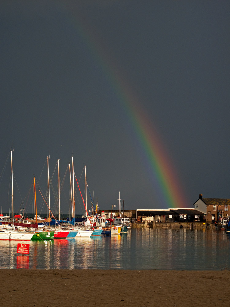 IMG 2193Rainbow over harbour