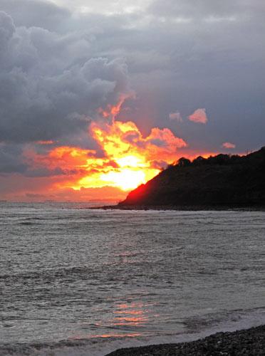 Monmouth beach sunset
