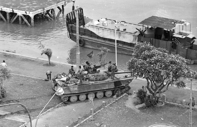 NVA tank on Saigon River front