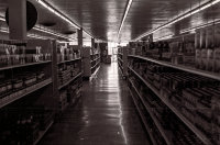 The US PX supermarket deserted just before the arrival of NVA troops