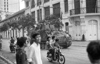 NVA tank arriving in Tu Do street