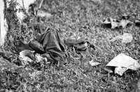 Discarded clothes from the South Vietnamese army