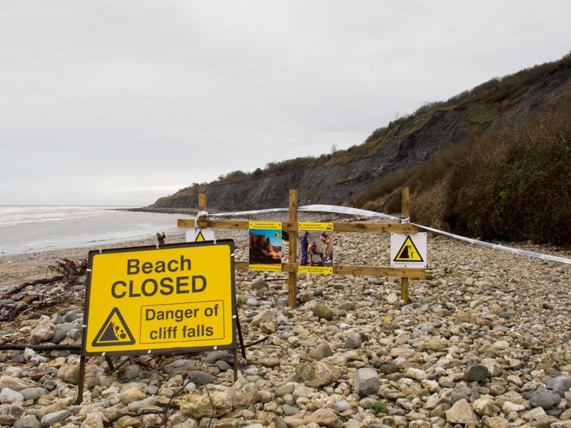 Monmouth Beach landslip-3716