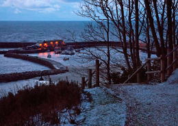 Lyme Regis harbour-winter morning
