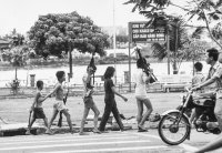 Child soldiers arriving in Saigon