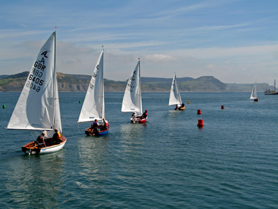 Setting sail, Lyme Regis