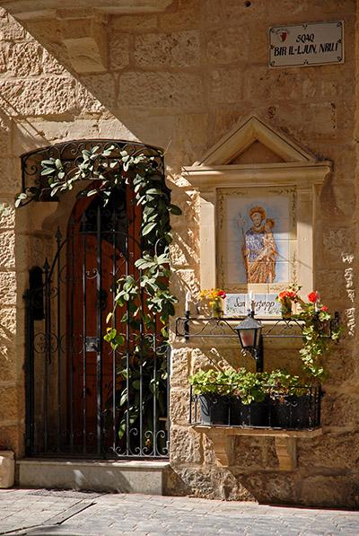 Shrine and door in Malta