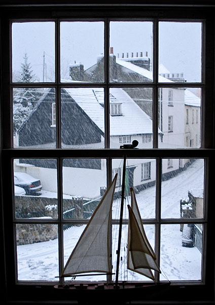 Snowy Day in Lyme Regis