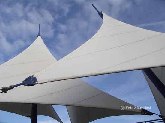 The Sails, Cardiff Bay barrage.