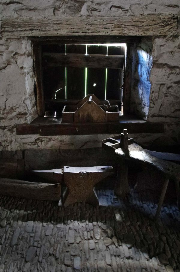 Tools and window, the blacksmith's workshop