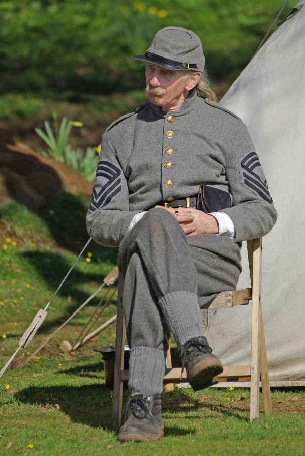 Confederate soldier at rest
