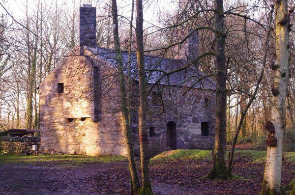 Garreg Fawr farmhouse on a winter afternoon